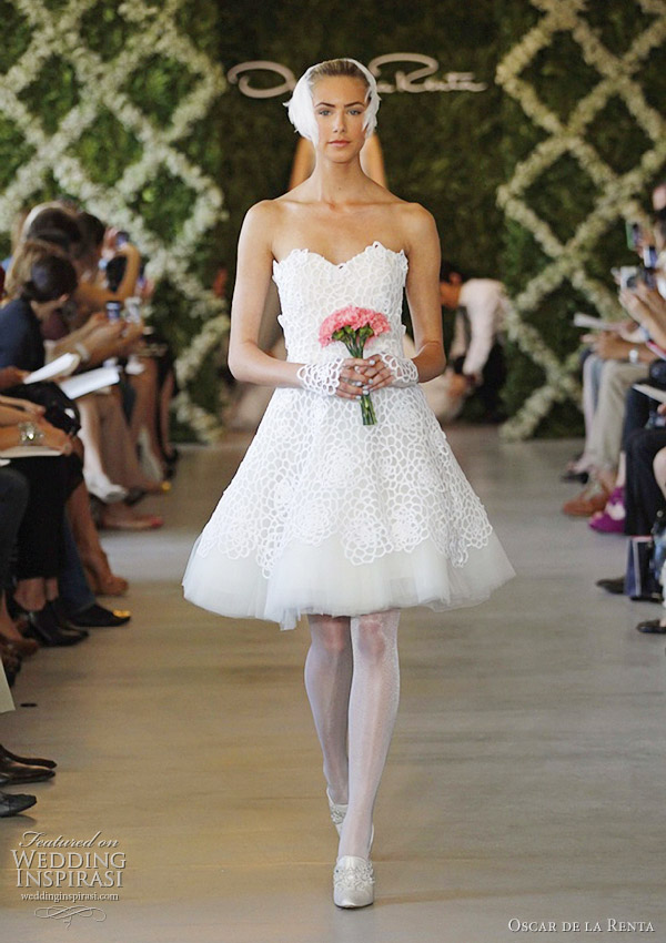Oscar de la renta bridal spring 2013 wedding dresses for Oscar de la renta short wedding dress