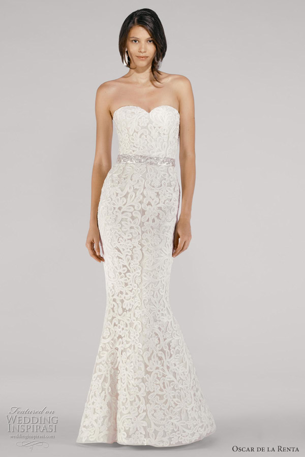Oscar de la renta bridal fall 2012 wedding inspirasi for Where to buy oscar de la renta wedding dress