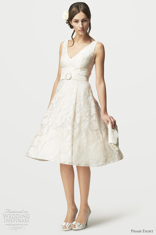 phase eight 2012 short wedding dress