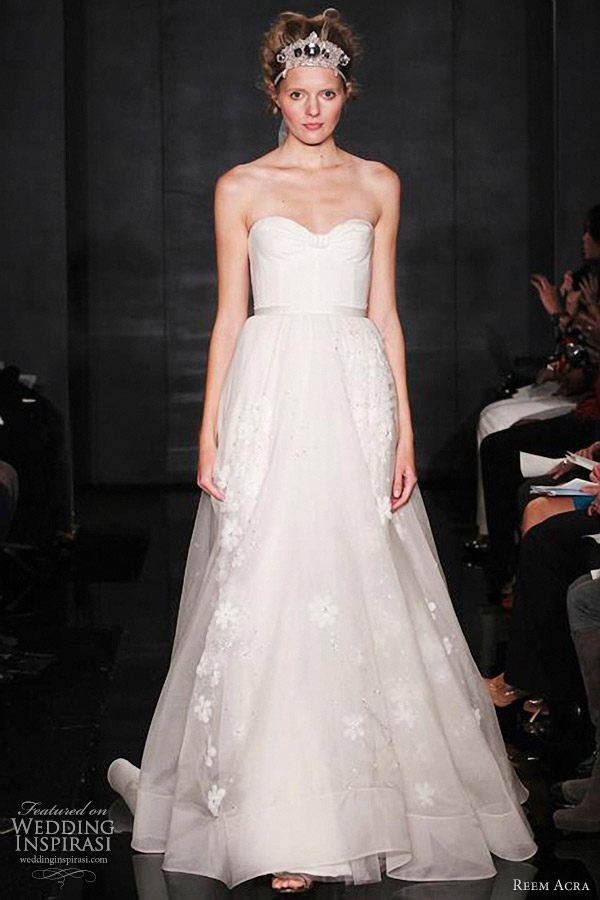 reem acra bridal fall 2012 collection