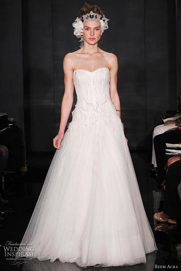 reem acra bridal gown fall 2012