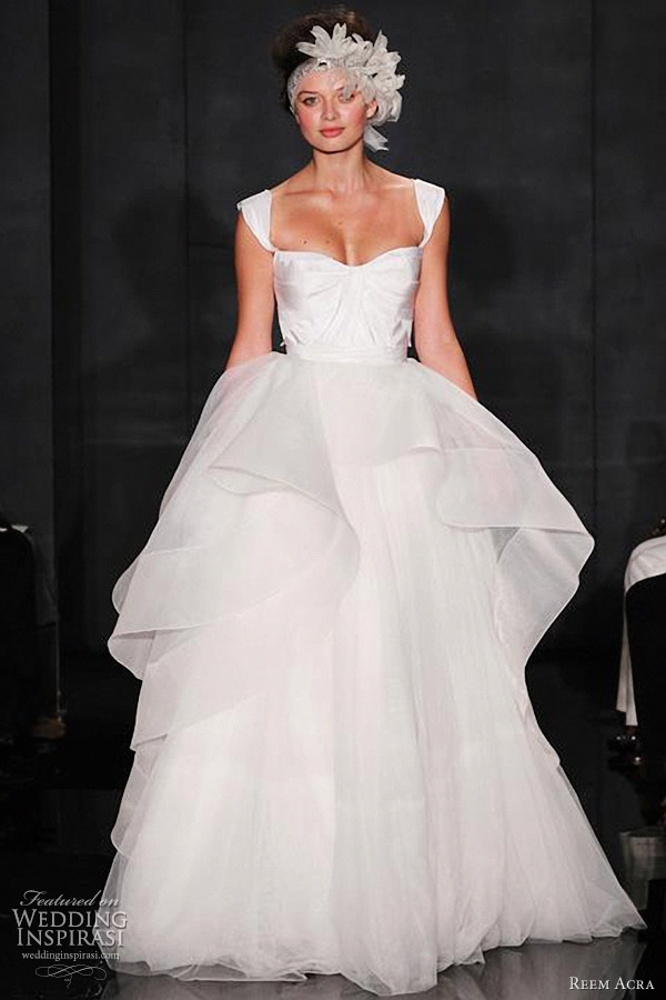 reem acra fall 2012 bridal collection