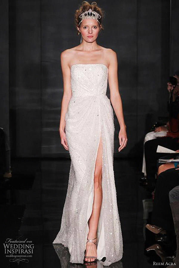 reem acra wedding dress fall 2012 bridal collection