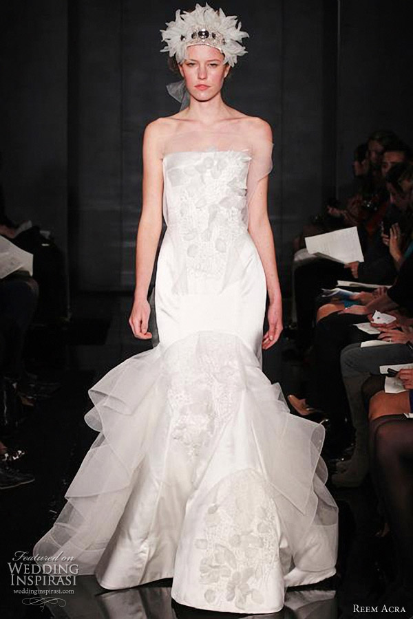 reem acra wedding dress fall 2012