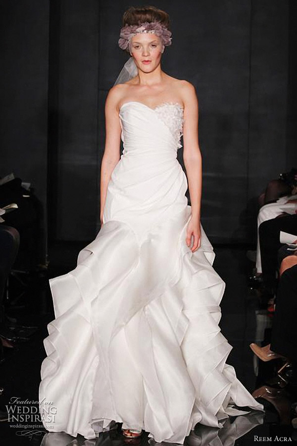 reem acra wedding dresses fall 2012