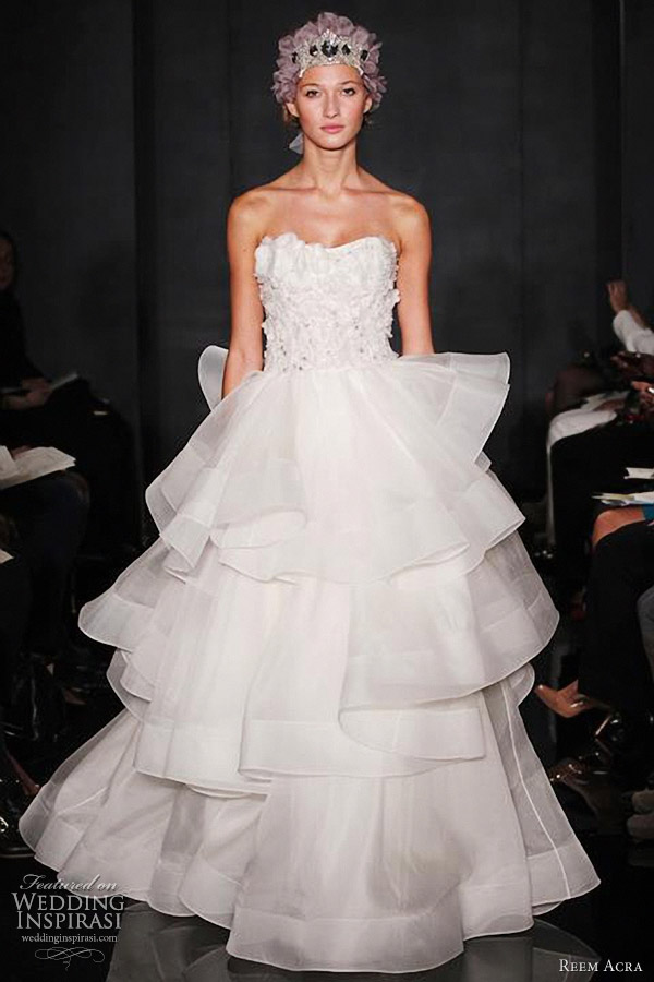 loving all the dreamy wedding dresses from reem acra fall 2012 bridal