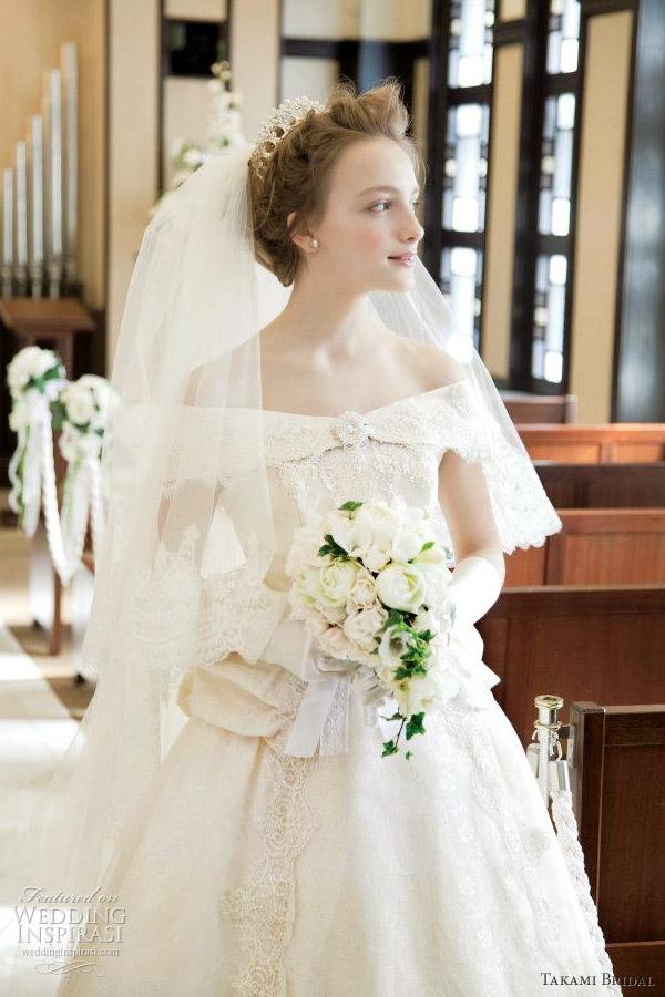 takami bridal royal wedding dress 2012