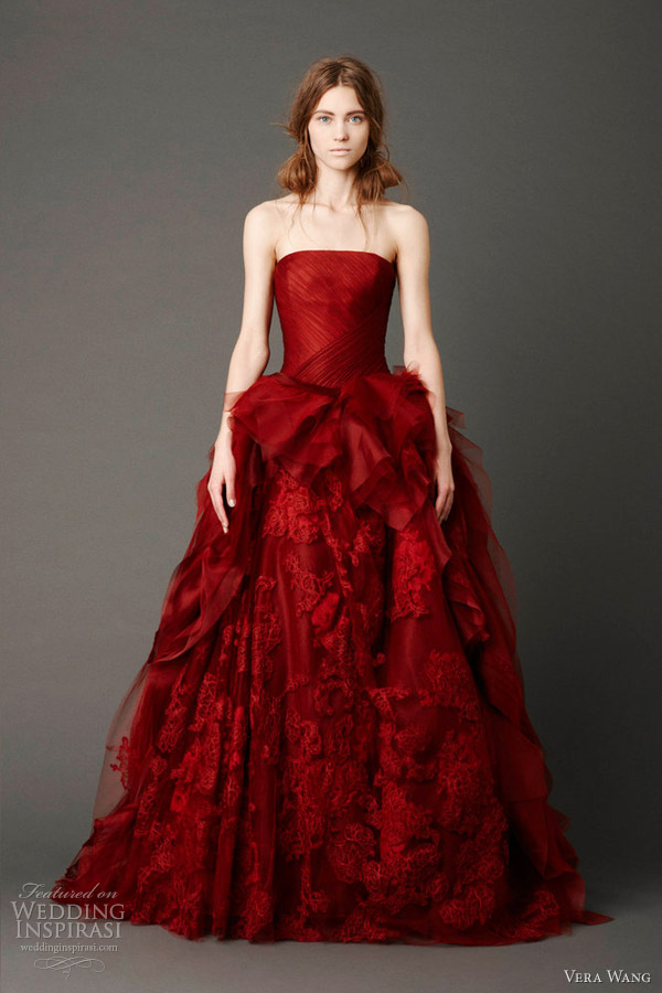 Incredible Vera Wang Red Wedding Dress 600 x 900 · 100 kB · jpeg
