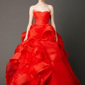 vera wang red wedding dress spring 2013