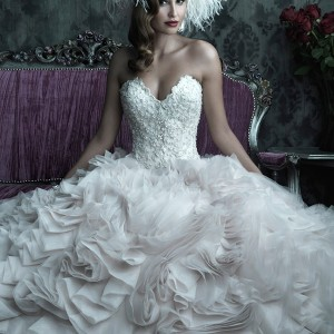allure bridals couture c229 wedding dress