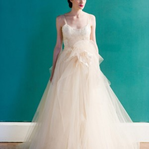 carol hannah 2013 peach wedding dress chambord