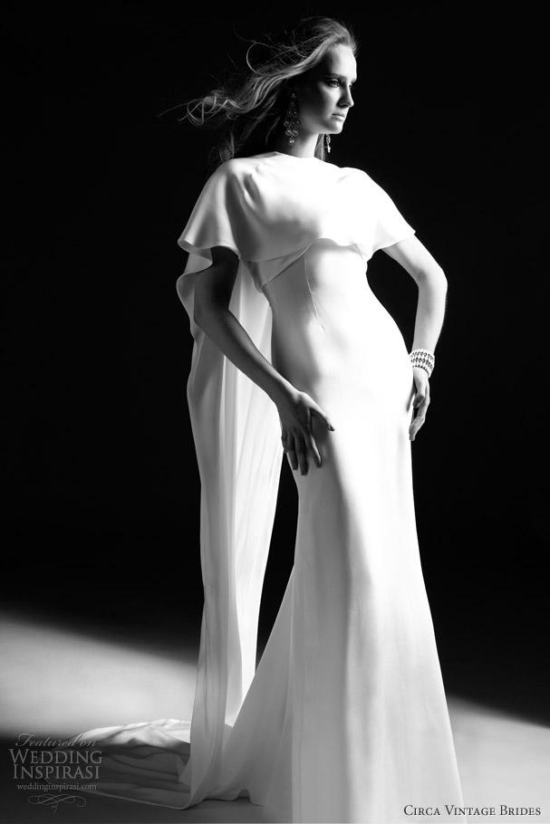 cirva vintage brides 2013 lou bridal cape