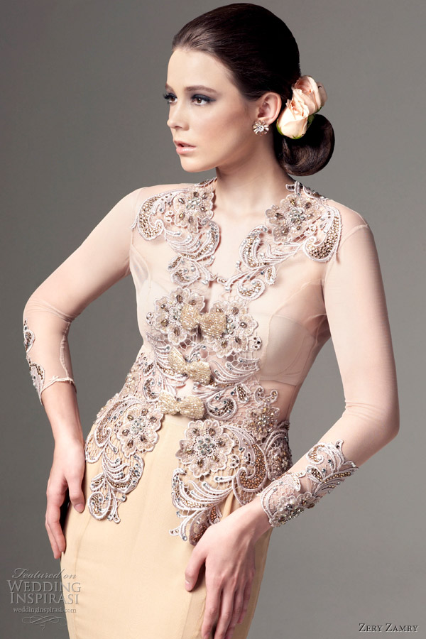 Such as the kebaya kurung and sarong feature heavily in his designs