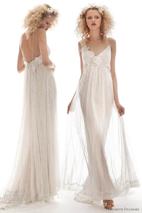 Elizabeth fillmore spring 2013 wedding dresses wedding for Flowy white wedding dress
