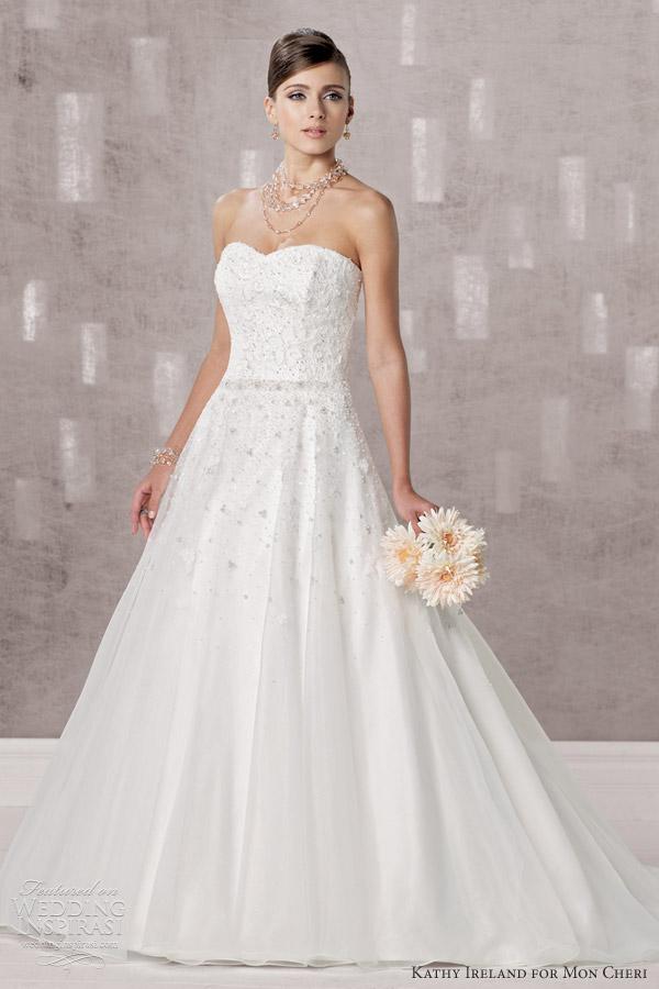 Kathy Ireland for Mon Cheri Fall 2012 | Wedding Inspirasi