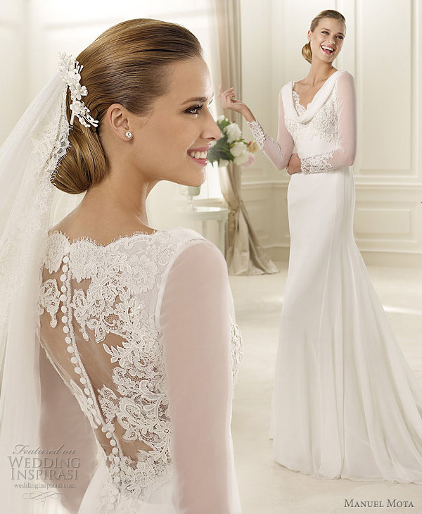 Wedding Dresses Sheer Sleeves 12