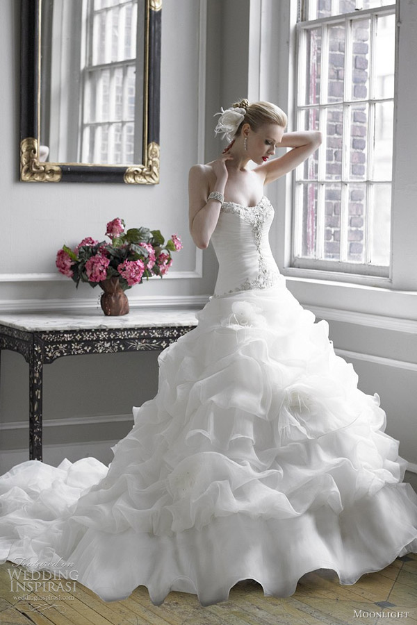 moonlight fall 2012 bridal collection