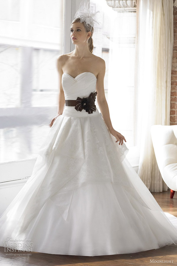 moonlight fall 2012 wedding dress