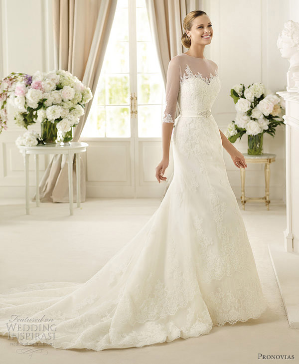 pronovias 2013 danker sleeve wedding dress