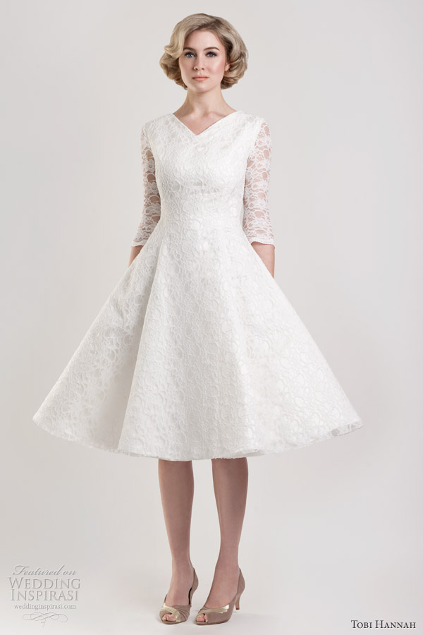 tobi hannah tea length wedding dresses 2013 - dawson