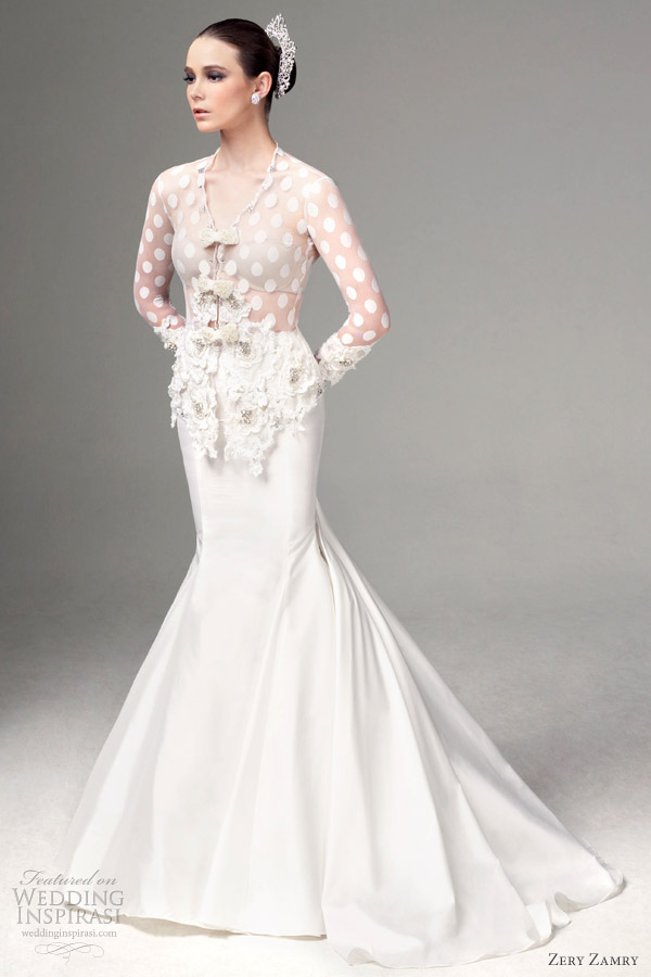 Zery zamry bridal collection 2012 wedding inspirasi page 2 for Modern long sleeve wedding dresses