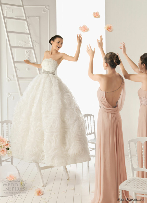 Aire Barcelona 2013 Wedding Dresses   Wedding InspirasiGorgeous Wedding Gowns 2012
