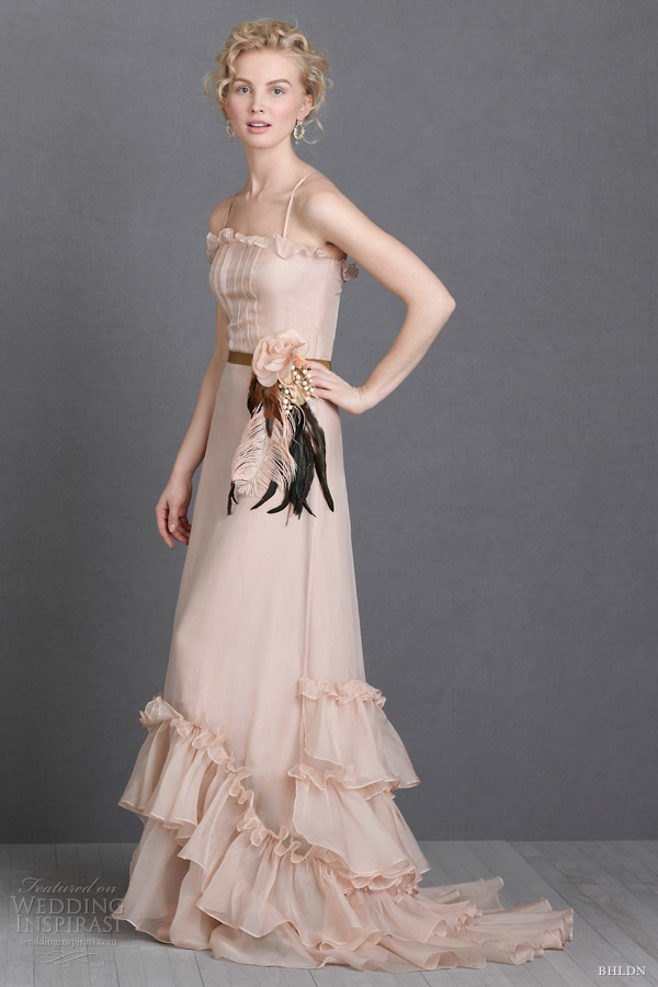 bhldn pink blush wedding dresses sweet tea gown
