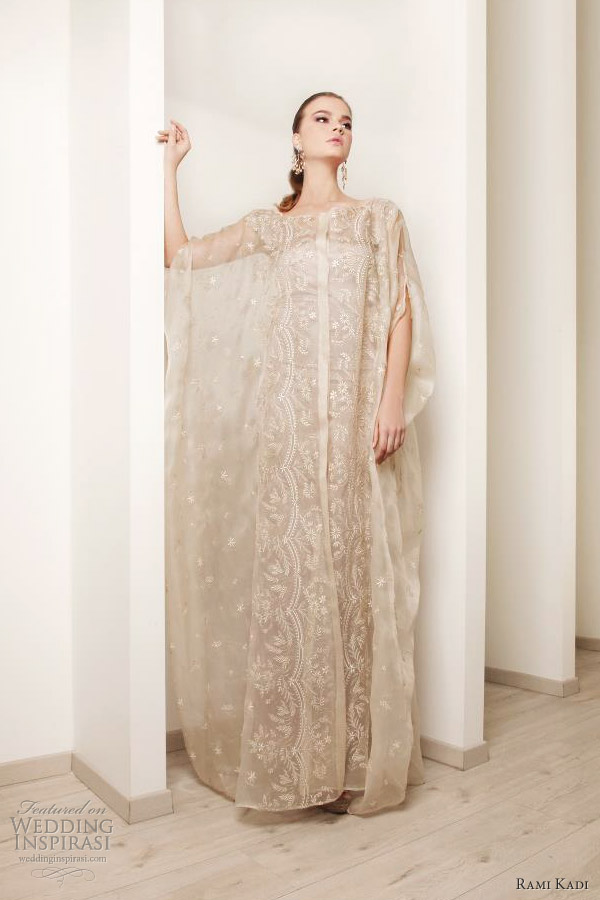embroidered abaya bridal kaftan rami kadi 2012