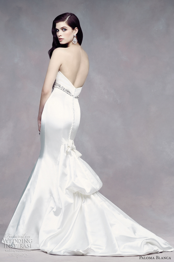 empire wedding dresses paloma blanca fall 2012 fit n flare style 4312