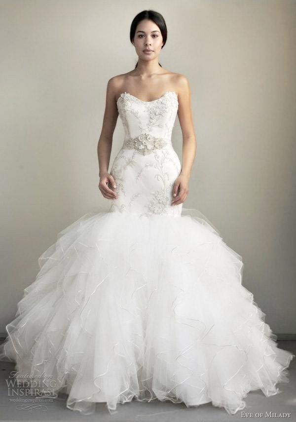 eve of milady spring 2013 strapless mermaid wedding dress