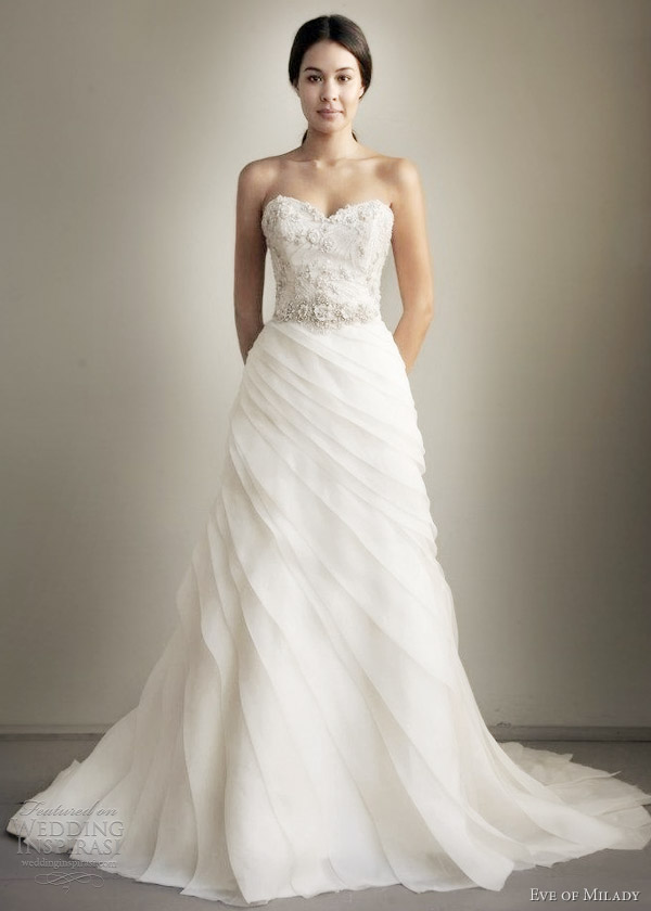 eve of milady spring 2013 strapless trumpet wedding dress
