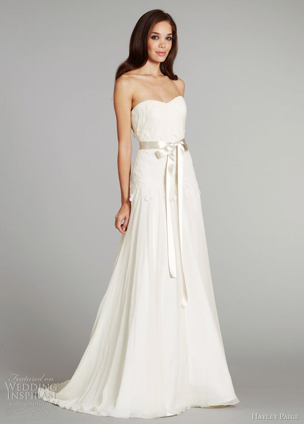hayley paige fall 2012 bridal prima wedding dress