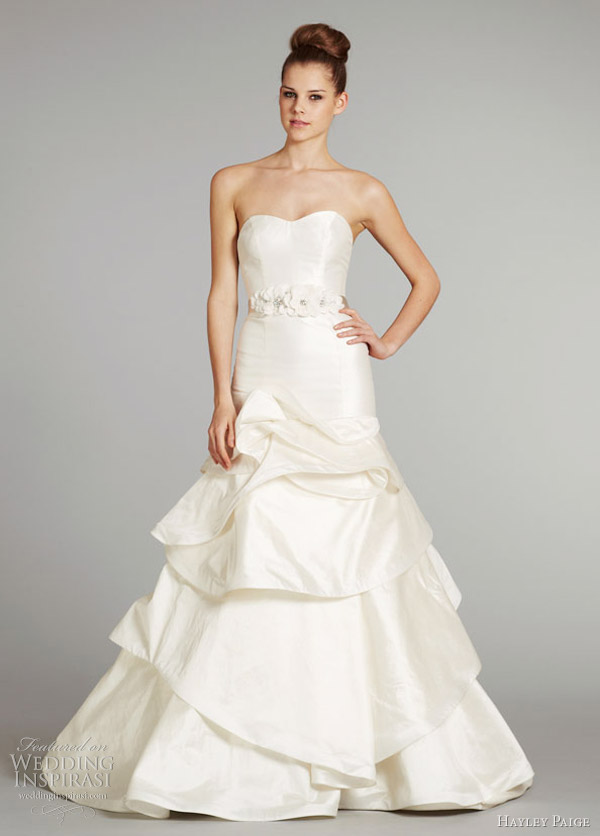 hayley paige fall 2012 pearl wedding dress