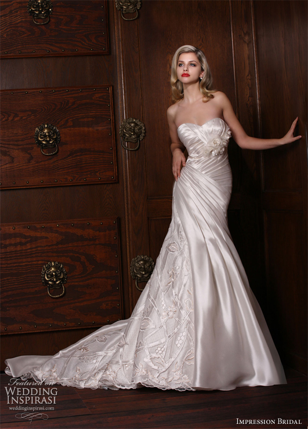 impression bridal trumpet ivory wedding gown 10135