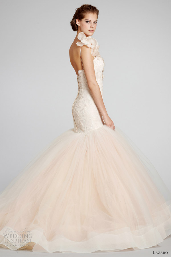 Blush Lazaro Wedding Dress Uk Wedding Ideas