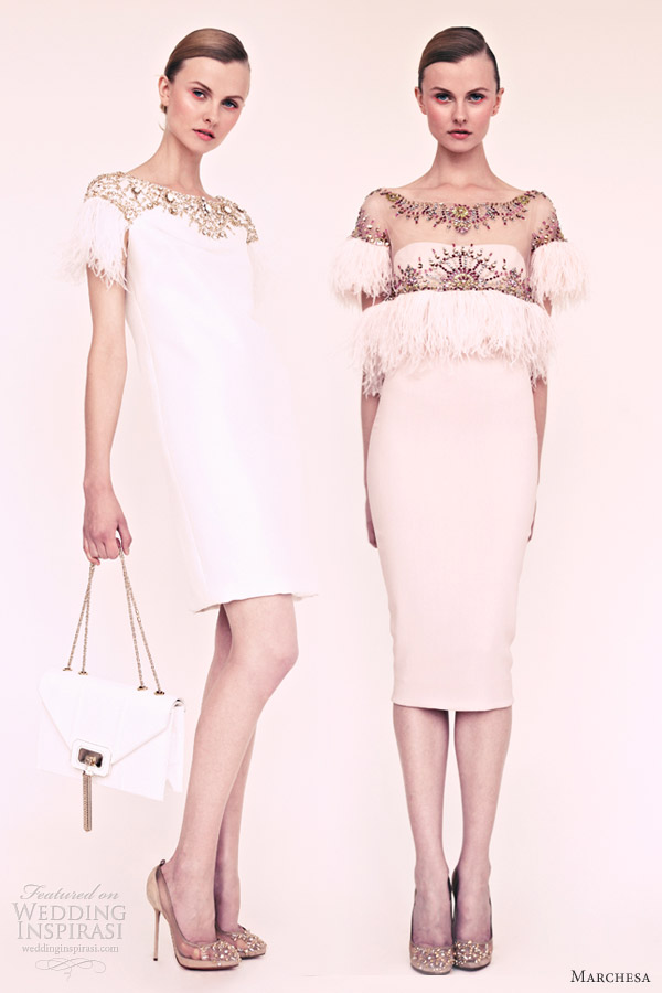 marchesa resort 2013 short white dresses