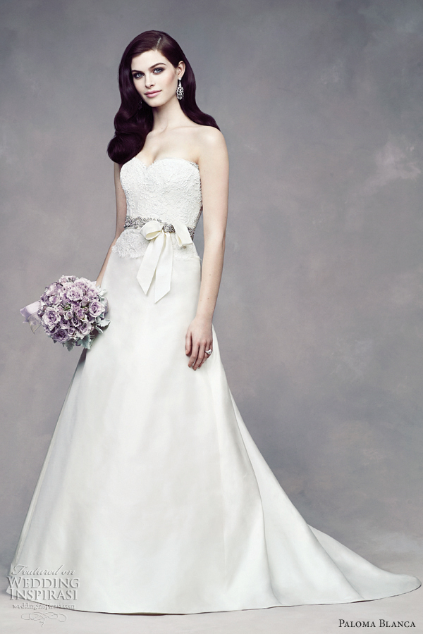 paloma blanca fall 2012 wedding dress lace a line style 4309