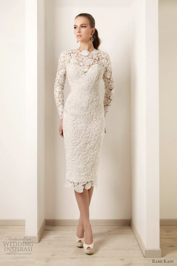 rami kadi bridal 2012 embroidered guipure lace dress