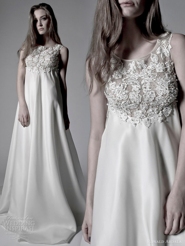 Wedding Gowns Empire Waist 88 Good ronald abdala bridal spring
