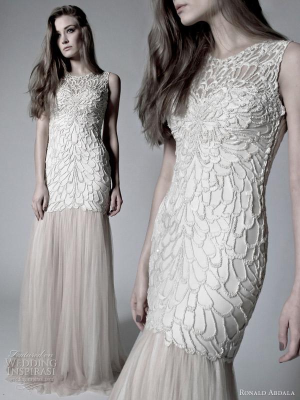 ronald abdala bridal spring 2012 sleeveless wedding dress
