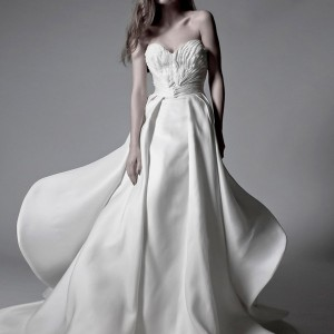 ronald abdala spring 2012 bridal strapless wedding dress