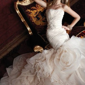 sweetheart ruffled mermaid gown wedding dresses 10130