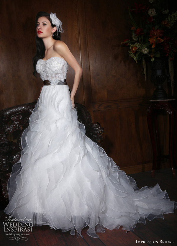 taffeta a line wedding dresses strapless lace 10127
