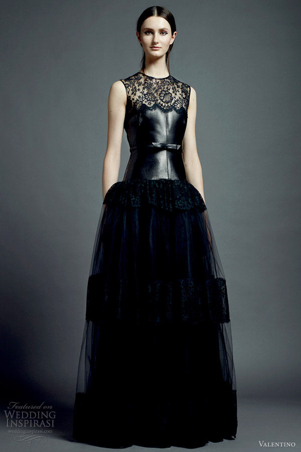valentino resort 2013 black dress