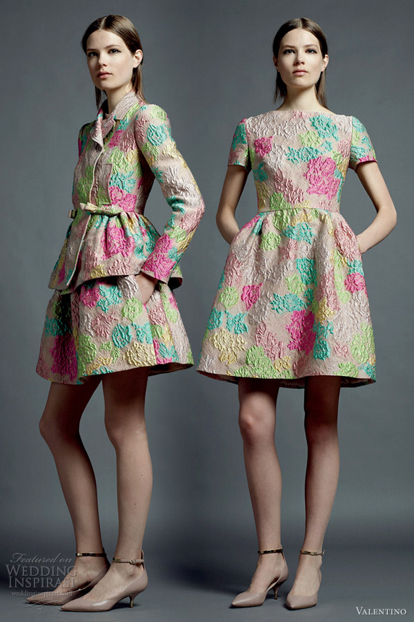 valentino resort 2013 printed dresses