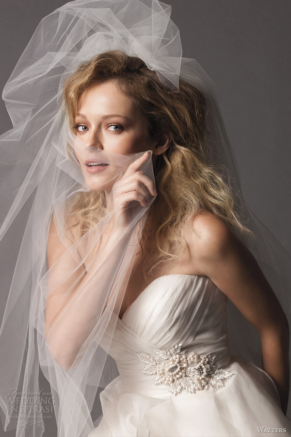watters fall 2012 brides collection wedding dress closeup