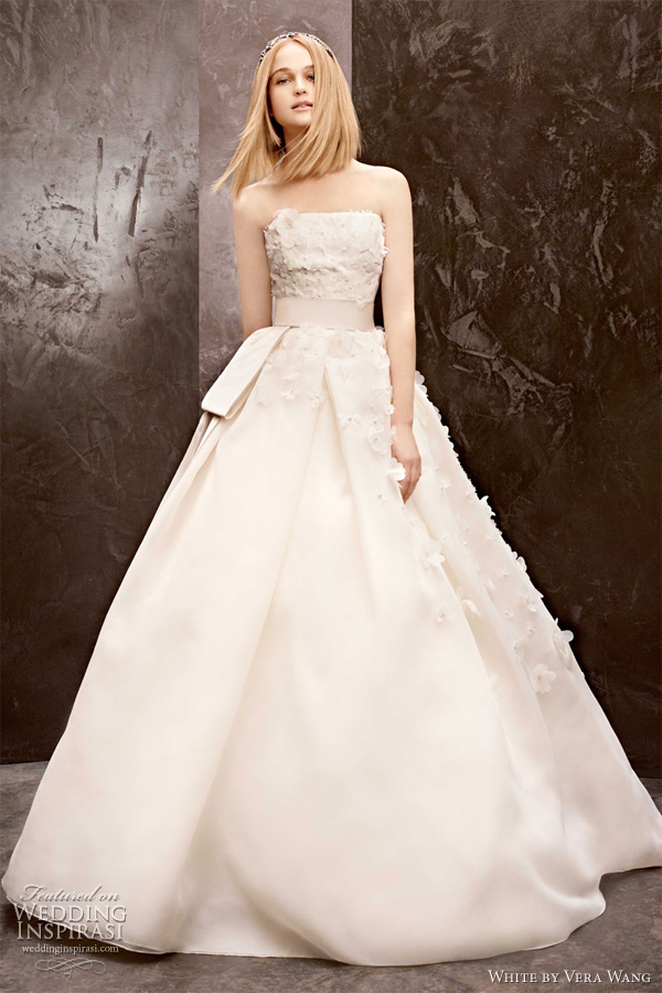 white by vera wang fall 2012 off white strapless ball gown wedding dress