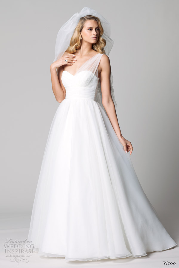 wtoo fall 2012 one shoulder ball gown wedding dress