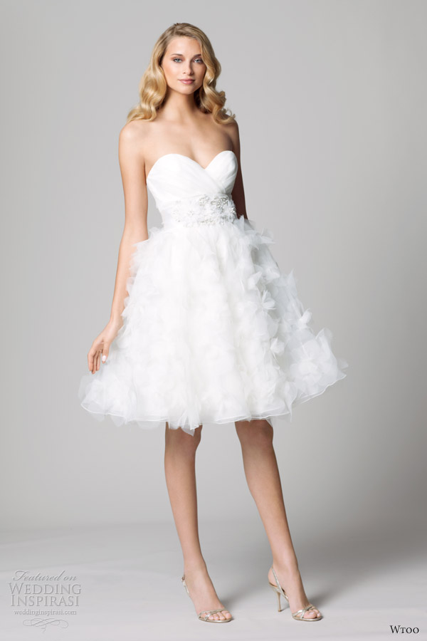 wtoo fall 2012 short wedding dress ruffle skirt