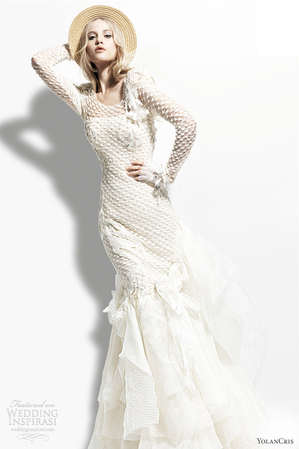 yolan cris 2013 chelsea girl bombay long sleeve wedding dress